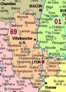 Carte Rhône