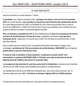 Le vote UNSS