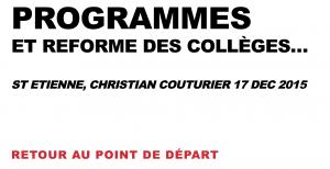 COUTURIER Christian Réforme Clg